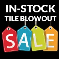 Instock Tile Blowout - as low as 75¢ sq.ft. at TLC Flooring Boutique in Las Vegas!